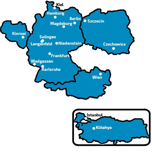 Rabbasol Vetretungen in Europa